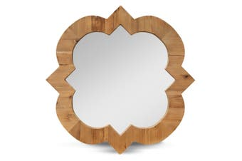 CAC2418-NI 90cm Recycled Fir Round Mirror