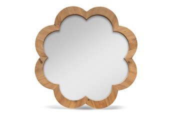CAC2417-NI 90cm Recycled Fir Round Mirror