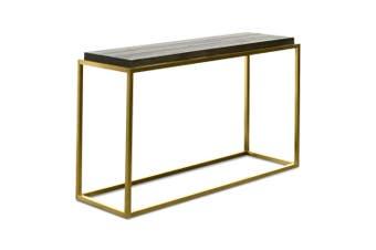 CDT2330-NI Console Table - Black - Golden