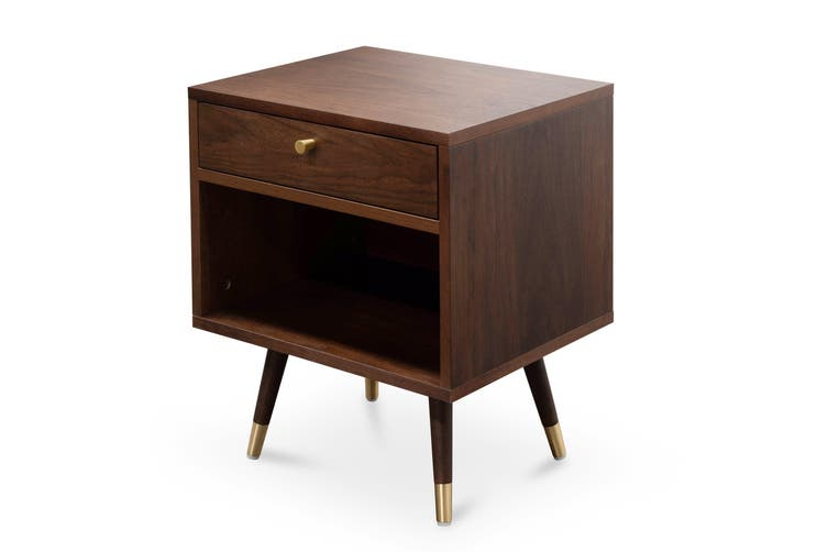 CST2517-KD Bedside Table - Walnut