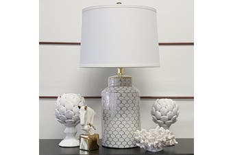 Artichoke Large Finial - Ceramic / White