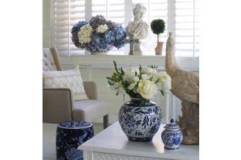 Posy Vase - Ceramic / Blue\/White