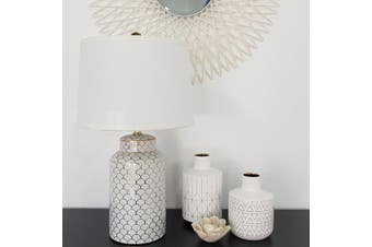 Geo Gold Table Lamp - Ceramic / White & Gold