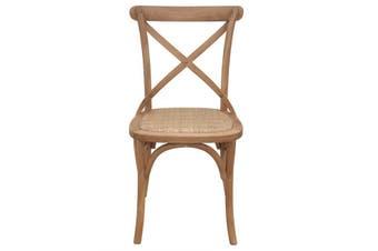 Crossback Dining Chair Natural Bentwood - Oak,Rattan / Natural