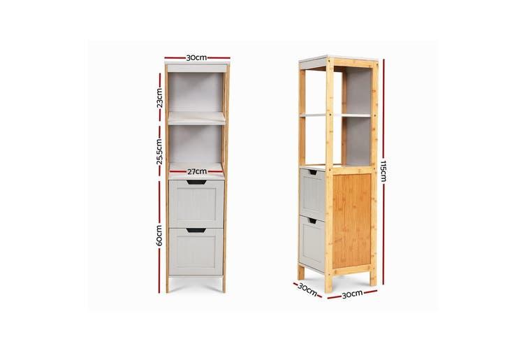 Artiss Bathroom Cabinet Tallboy Furniture Toilet Storage Laundry Cupboard 115cm