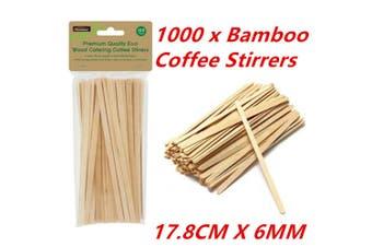 1000 Wooden Coffee Tea Stirrers Stirrer Waxing Craft Paddle Pop Sticks Cafe Shop