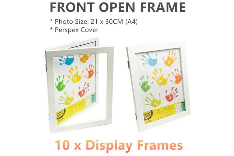 10 x A4 Front Open Photo Frames White Craft Picture Holders Drawings Arts Craft