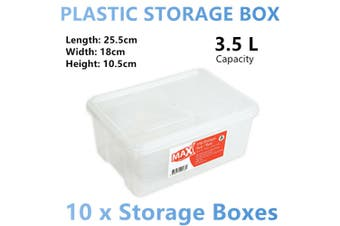 10x Stackable Plastic Storage Box Container Organiser Table Desk Basket Small