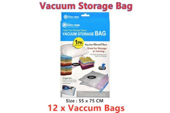 12 x Vacuum Storage Bags Clothes Sealer Bags Space Saver Storage Seal Compressing LRG