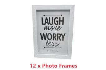 12 X White Photo Frame 13CMx18CM Picture Home Decor Table Display Stand Motivation
