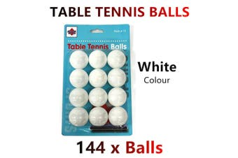144x White Table Tennis Balls Ping Pong Sports Training Practice Party Bulk