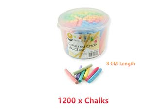 12x Coloured Chalk Bucket Pastel Drawing Art Craft Colour Painting Color Dry Powder