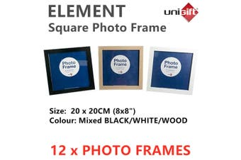 12x Square Photo Frame 20x20CM Picture Display Family Wooden Home Decor Arts MDF
