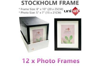 "12x Black Stockholm 8x10"" 5x7"" Photo Frames Picture Arts Draw Family Shadow Box"