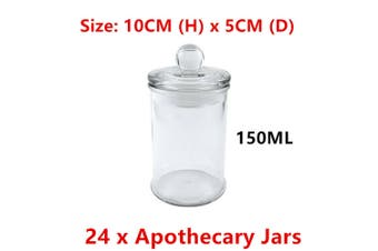 24x 150ML Small Glass Apothecary Jars Candle Lolly Jar Wedding Favours