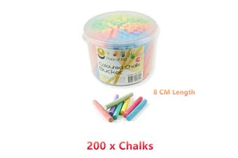 2x Coloured Chalk Bucket Pastel Drawing Art Craft Colour Painting Color Dry Powder