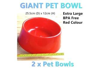 2x Giant Dog Cat Bowls Extra Large Pet Dish Feeder Dispenser Food Water Xlarge R