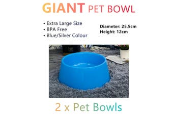 2x Giant Dog Cat Bowls Extra Large Pet Dish Feeder Dispenser Food Water Xlarge