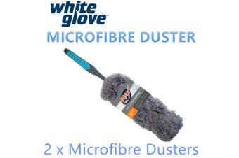 2x Microfibre Duster Microfiber Dust Window Car Home Cleaning Wipe Brush Sweeper