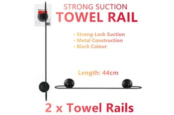 2x Strong Suction Wall Towel Rail Ring Bathroom Hook Hanging Holder Hanger Rack