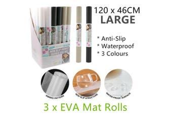 3 Rolls Large EVA Foam Mats Non Slip Waterproof Liner Drawer Placemat Kitchen