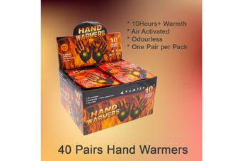40 Pairs Hand Warmer 10hrs Long Ski Snow Glove Jacket Heat Pack Heater Warm Pad