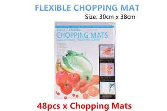 48pcs x Flexible Chopping Mat Kitchen Cooking Cutting Board Clear Pad Food Prep