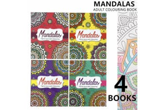 4x Mandala Adult Colouring Books A4 Arts Paint Drawing Kids Activity Coloring