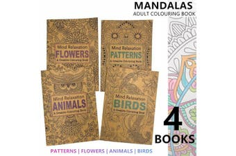 4x Mandala Arts Adult Colouring Books A4 Paint Drawing Kids Activity Coloring