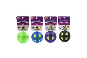 4 x Strong TPR & Felt Ball Pet Dog Puppy Toy Dental Fun Play Chew Training 9cm