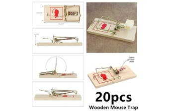 20x Reusable Wooden Mouse Trap Mice Rat Snare Catcher Rodent Pest Control Traps