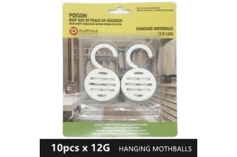 10x Hanging Mothballs Moth Killing Silverfish Insect Pest Repellent Ball Camphor