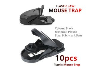 10x Plastic Mouse Traps Reusable Mice Rat Snare Catcher Rodent Indoor Outdoor