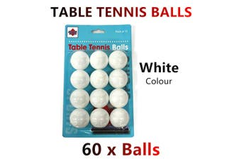 60x White Table Tennis Balls Ping Pong Sports Training Practice Party Bulk