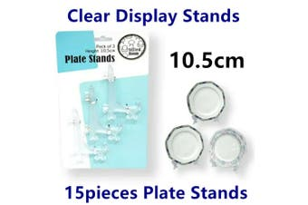 15pcs Clear Plate Display Stand Easel Photo Picture Frame Cafe Sign Board Holder