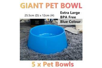 5x Giant Dog Cat Bowls Extra Large Pet Dish Feeder Dispenser Food Water Xlarge B
