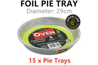15 x Foil Pie Trays Baking Cake Oven Bake Mold Mould Tray Food Cooking Aluminium