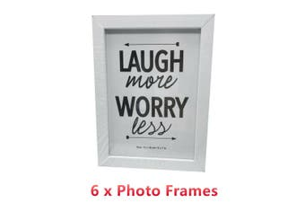 6 X White Photo Frame 13CMx18CM Picture Home Decor Table Display Stand Motivation