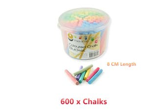 6x Coloured Chalk Bucket Pastel Drawing Art Craft Colour Painting Color Dry Powder
