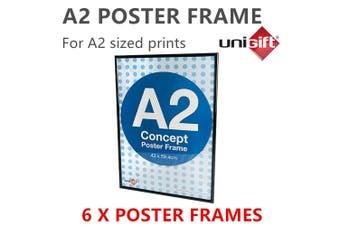 6 x Large Black A2 Poster Frame Display Print Signage Photo Picture DIY Artwork