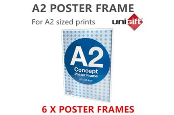 6 x Large White A2 Poster Frame Display Print Signage Photo Picture DIY Artwork