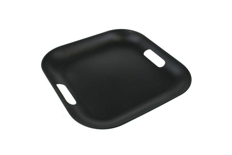 6 x Matte Square Melamine Serving Platters 38cm Color Catering Tray With Handle