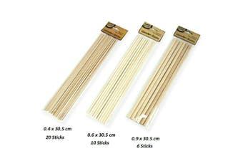 Dowel Rod Long Round Wood Wooden Stick Sticks Craft DIY Building Unfinished