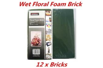 12 x Wet Flower Floral Foam Brick Block Type Green Color Flower Decoration Display