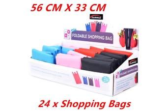 24 x Fold-able Waterproof Reusable Shopping Storage Bags Handbags Grocery Bag 56CM