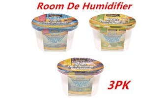3 x ROOM DEHUMIDIFIER AIR FRESHENER CARAVANS WARDROBES BOATS GARAGE CUPBOARD BULK