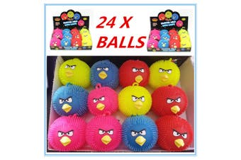 24 X COLOURFUL BIRD ANIMAL LIGHT UP PUFFER BALLS BIRTHDAY PARTY EVENT GIFT DDDD