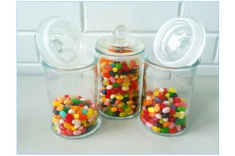 6 X Glass Apothecary Candy Lolly Buffet Jar Candle Waxing, Wedding &Party 660 ML