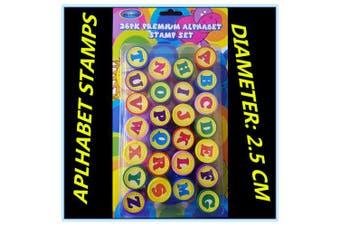 26 Alphabet capital Letters ink Stamp Stamper kids preschool educational toy FD