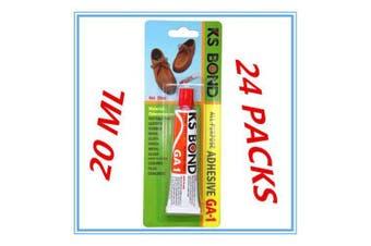 24 PACK ORIGINAL KS BOND ADHESIVE 20ML LEATHER RUBBER WOOD CLOTH PAPER & ETC DDF